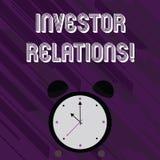 Word het schrijven de Relaties van de tekstinvesteerder Het bedrijfsconcept voor de Verhouding van de Financiëninvestering bespre vector illustratie