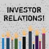 Word het schrijven de Relaties van de tekstinvesteerder Het bedrijfsconcept voor de Verhouding van de Financiëninvestering bespre royalty-vrije illustratie