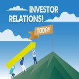 Word het schrijven de Relaties van de tekstinvesteerder Het bedrijfsconcept voor de Verhouding van de Financiëninvestering bespre stock illustratie