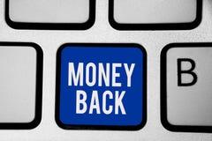 Word het schrijven de Rug van het tekstgeld Het bedrijfsconcept voor krijgt wat u in ruil voor tekort of probleem in de blauwe sl royalty-vrije illustratie