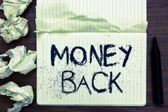 Word het schrijven de Rug van het tekstgeld Het bedrijfsconcept voor krijgt wat u in ruil voor tekort of probleem in pagina van h stock illustratie
