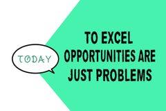 Word het schrijven de tekst aan Excel-Kansen is enkel Problemen Bedrijfsconcept voor de Vrees van de Comfortstreek de buitenwerel stock illustratie