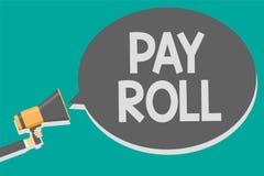 Word het schrijven de tekst betaalt Broodje Bedrijfsdieconcept voor Hoeveelheid lonen en salarissen door een bedrijf aan zijn wer vector illustratie