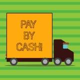Word het schrijven de tekst betaalt door Contant geld Bedrijfsconcept voor Klant die met geldmuntstukken rekeningen betalen die e vector illustratie