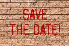 Word het schrijven de tekst bewaart de Datum Bedrijfsconcept voor Remember om eender wat niet te plannen die kunst van de tijdBak stock foto's