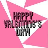 Word het schrijven de tekst Gelukkig Valentine S is Dag Bedrijfsconcept voor wanneer de minnaars hun affectie met groeten uitdruk stock illustratie