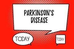 Word het schrijven de tekst Parkinson s is Ziekte Bedrijfsconcept voor zenuwstelselwanorde die beweging beïnvloedt vector illustratie