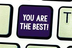 Word het schrijven de tekst u is het Beste Bedrijfsconcept voor Appreciatie van uw kwaliteiten en capaciteiten grote vaardigheden royalty-vrije stock afbeeldingen