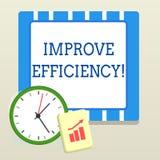 Word het schrijven de tekst verbetert Efficiency Bedrijfsconcept voor Bekwaamheid in perforanalysisce met Minste Afval van Inspan stock illustratie