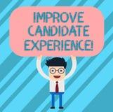 Word het schrijven de tekst verbetert Kandidaatervaring Bedrijfsconcept voor Develop werkzoekenden die tijdens de rekruteringsmen stock illustratie