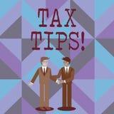 Word het schrijven de Uiteinden van de tekstbelasting Bedrijfsconcept voor Hulpideeën voor Vermindering van belastingheffings de  vector illustratie