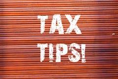 Word het schrijven de Uiteinden van de tekstbelasting Bedrijfsconcept voor verplichte bijdrage tot de opbrengst van de staat die  royalty-vrije illustratie
