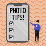 Word het schrijven de Uiteinden van de tekstfoto Bedrijfsconcept voor Suggesties om goede beeldenadviezen voor grote fotografie t stock illustratie