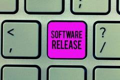 Word het schrijven de Versie van de tekstsoftware Bedrijfsconcept voor som stadia van ontwikkeling en rijpheid voor programma stock foto
