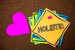 Word het schrijven Holistic tekst Het bedrijfsconcept voor Geloof wordt de delen van iets onderling verbonden Verwant met de beri stock afbeelding