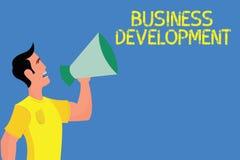 Word het schrijven tekst Bedrijfsontwikkeling Bedrijfsconcept voor de Waarde van de Instrumentgroei binnen en tussen bedrijf stock illustratie