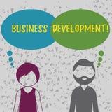 Word het schrijven tekst Bedrijfsontwikkeling Het bedrijfsconcept voor Develop en voert de Kansen van de Organisatiegroei uit vector illustratie