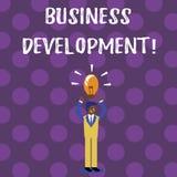 Word het schrijven tekst Bedrijfsontwikkeling Het bedrijfsconcept voor Develop en voert de Kansen van de Organisatiegroei uit stock illustratie