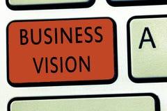 Word het schrijven tekst Bedrijfsvisie Het bedrijfsconcept voor kweekt uw die zaken in de toekomst op uw doelstellingen wordt geb royalty-vrije stock afbeelding