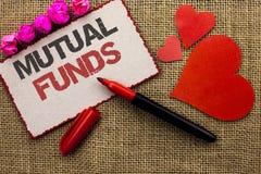 Word het schrijven tekst Beleggingsmaatschappijen Bedrijfsconcept voor Investeringsstrategie om aandelen met andere die investeer stock afbeeldingen