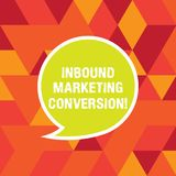 Word het schrijven tekst Binnenkomende Marketing Omzetting Bedrijfsconcept voor proces om de aandacht van vooruitzicht aan te tre royalty-vrije illustratie