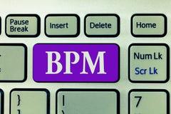Word het schrijven tekst Bpm Bedrijfsconcept voor Discipline van het verbeteren van een bedrijfsproces die verbeteringen uitvoere stock foto