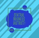 Word het schrijven tekst Centraal Bedrijfsdistrict Bedrijfsconcept voor commercieel en commercieel centrum van een Asymmetrische  royalty-vrije illustratie