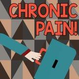 Word het schrijven tekst Chronische Pijn Het bedrijfsconcept voor normale sensatie alarmeert ons aan mogelijke verwonding duurt t stock illustratie