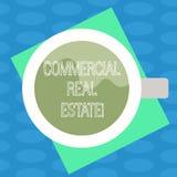 Word het schrijven tekst Commercieel Real Estate Bedrijfsconcept voor bezit dat alleen voor bedrijfsdoeleinden Hoogste Weergeven  vector illustratie