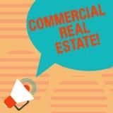 Word het schrijven tekst Commercieel Real Estate Bedrijfsconcept voor bezit dat alleen voor bedrijfsdoeleinden Megafoon met wordt vector illustratie