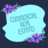 Word het schrijven tekst Commercieel Real Estate Bedrijfsconcept voor bezit dat alleen voor bedrijfsdoeleinden Spatie wordt gebru royalty-vrije illustratie