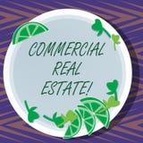 Word het schrijven tekst Commercieel Real Estate Bedrijfsconcept voor bezit dat alleen voor bedrijfsdoeleinden wordt gebruikt vector illustratie