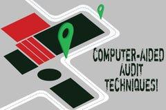 Word het schrijven tekst Controletechnieken Met computer Bedrijfsconcept voor het Gebruiken van computer om IT de Wegenkaart van  royalty-vrije illustratie