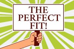 Word het schrijven tekst de Perfecte Pasvorm Bedrijfsconcept voor Raadselstukken die de Goede raad van het de Integratiebericht v stock illustratie