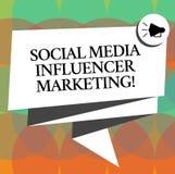 Word het schrijven tekst de Sociale Media Marketing van Influencer Bedrijfsconcept voor moderne reclame Gevouwen 3D van Blogger o vector illustratie