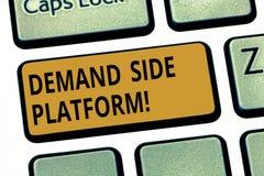 Word het schrijven tekst Deanalysisd Zijplatform Bedrijfsconcept voor Software die voor het programmatic advertentie kopen wordt  stock afbeelding