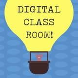 Word het schrijven tekst Digitale Klassenzaal Bedrijfsconcept voor waar studenten het leren en interactie met instructeur Hu royalty-vrije illustratie