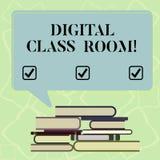Word het schrijven tekst Digitale Klassenzaal Bedrijfsconcept voor waar studenten het leren en interactie met instructeur Uneven vector illustratie