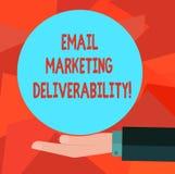 Word het schrijven tekst E-mail die Deliverability op de markt brengen Bedrijfsconcept voor Capaciteit om e-mail aan de analyseha royalty-vrije illustratie