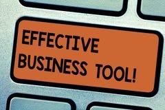 Word het schrijven tekst Efficiënt Zakelijk hulpmiddel Bedrijfsconcept voor gebruikt om bedrijfsprocessentoetsenbord te controler royalty-vrije stock afbeelding