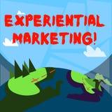 Word het schrijven tekst Ervarings Marketing Bedrijfsconcept voor marketing strategie die direct consumenten in dienst neemt vector illustratie