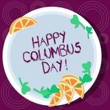Word het schrijven tekst Gelukkig Columbus Day Het bedrijfsconcept voor vakantie herdenkt het landen van Christopher in de Knipse stock afbeelding