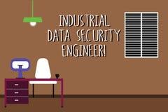 Word het schrijven tekst Industriële Gegevensbeveiligingingenieur Bedrijfsconcept voor het Werk van de het systeemtechniek van he royalty-vrije illustratie