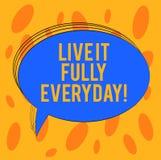 Word het schrijven tekst Live It Fully Everyday Het bedrijfsconcept voor optimistisch is geniet van het Succesvolle Lege Geschets royalty-vrije stock afbeelding