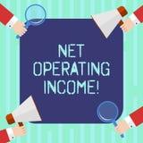 Word het schrijven tekst Netto Bedrijfsopbrengst Bedrijfsconcept voor Jaarlijks die inkomen na het aftrekken van al analyse van u vector illustratie
