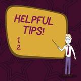 Word het schrijven tekst Nuttige Uiteinden Bedrijfsconcept voor adviezen die worden gegeven om nuttige kennis bij de het levens Z royalty-vrije illustratie