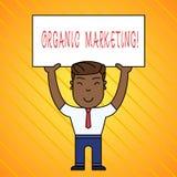 Word het schrijven tekst Organische Marketing Bedrijfsconcept voor het ertoe brengen van uw klanten om aan u natuurlijk na verloo stock illustratie
