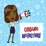 Word het schrijven tekst Organische Marketing Bedrijfsconcept voor het ertoe brengen van uw klanten om aan u natuurlijk na verloo royalty-vrije illustratie