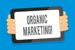 Word het schrijven tekst Organische Marketing Bedrijfsconcept voor het ertoe brengen van uw klanten om aan u natuurlijk na verloo vector illustratie