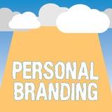 Word het schrijven tekst het Persoonlijke Brandmerken Bedrijfsconcept voor de Marketing van en hun carrières als merken vector illustratie